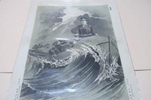 東洋之偉丈夫・勇敢的海軍大尉郡司成忠君・短艇航海之図